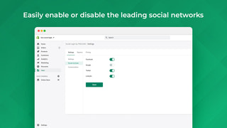 Easy enable and disable social platform
