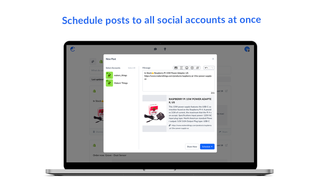 Schedule posts to all social accounts - Comity