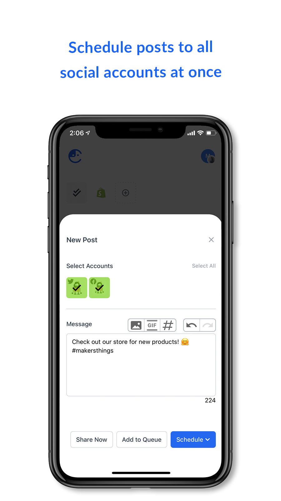 Manage social media on the go - Comity