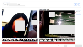 REAL - Bad actor blocked w/ digital images of credit card