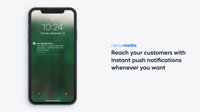 Reach your customers with instant push notifications