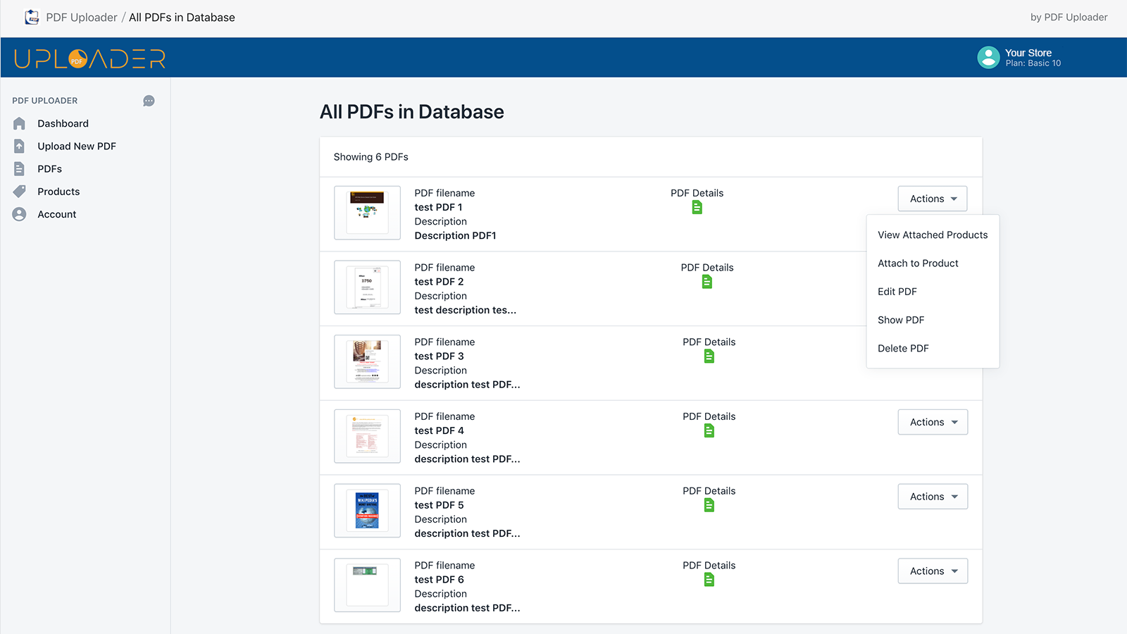 backend with pdfs