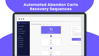 Automated Abandon-Cart Recovery Sequences.