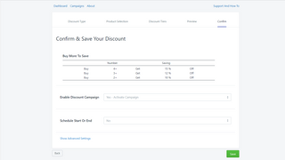 Schedule your campaign or restrict to specific customers + tags