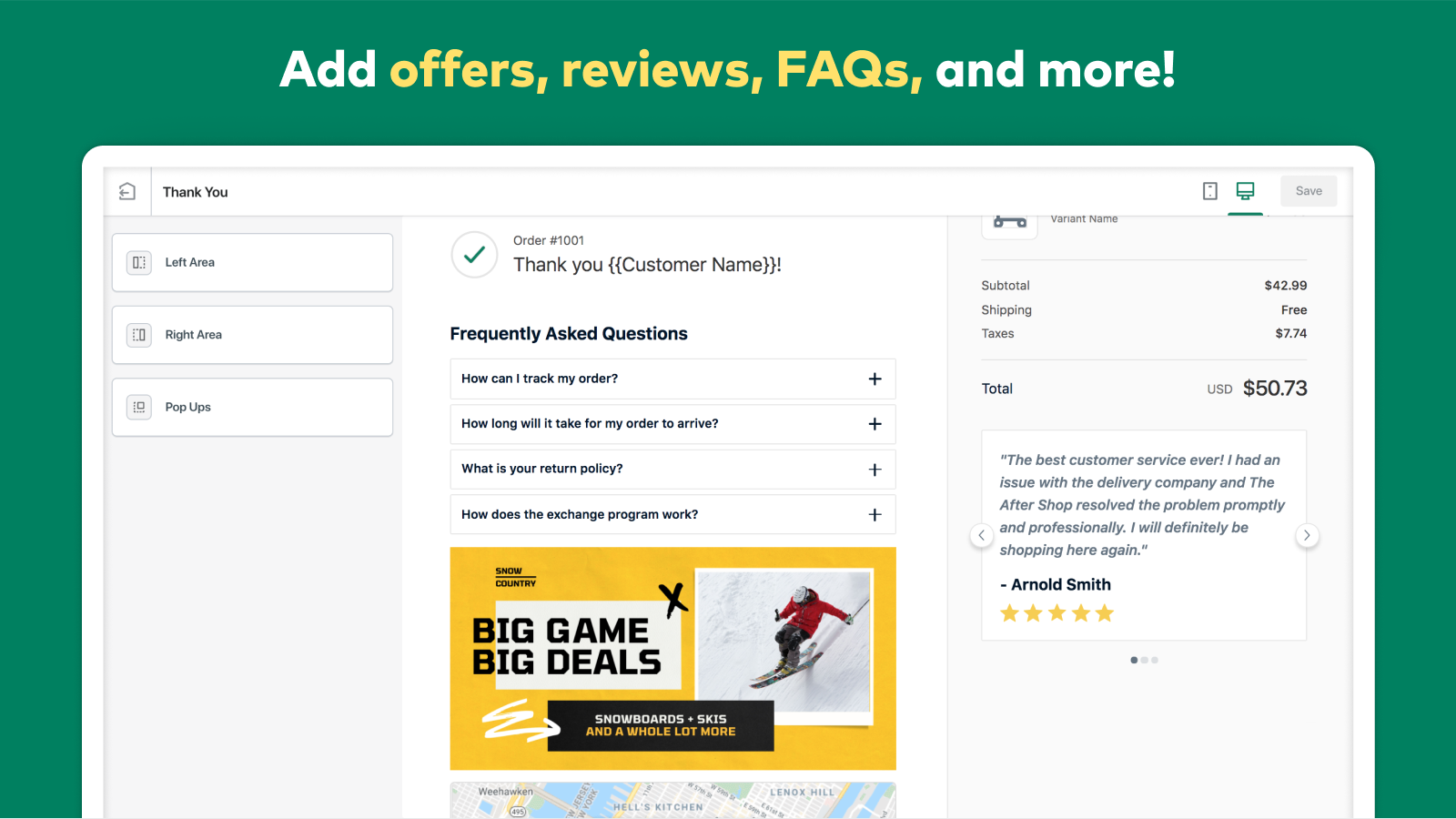 AfterSell Post Purchase Offers, Reviews, and FAQs