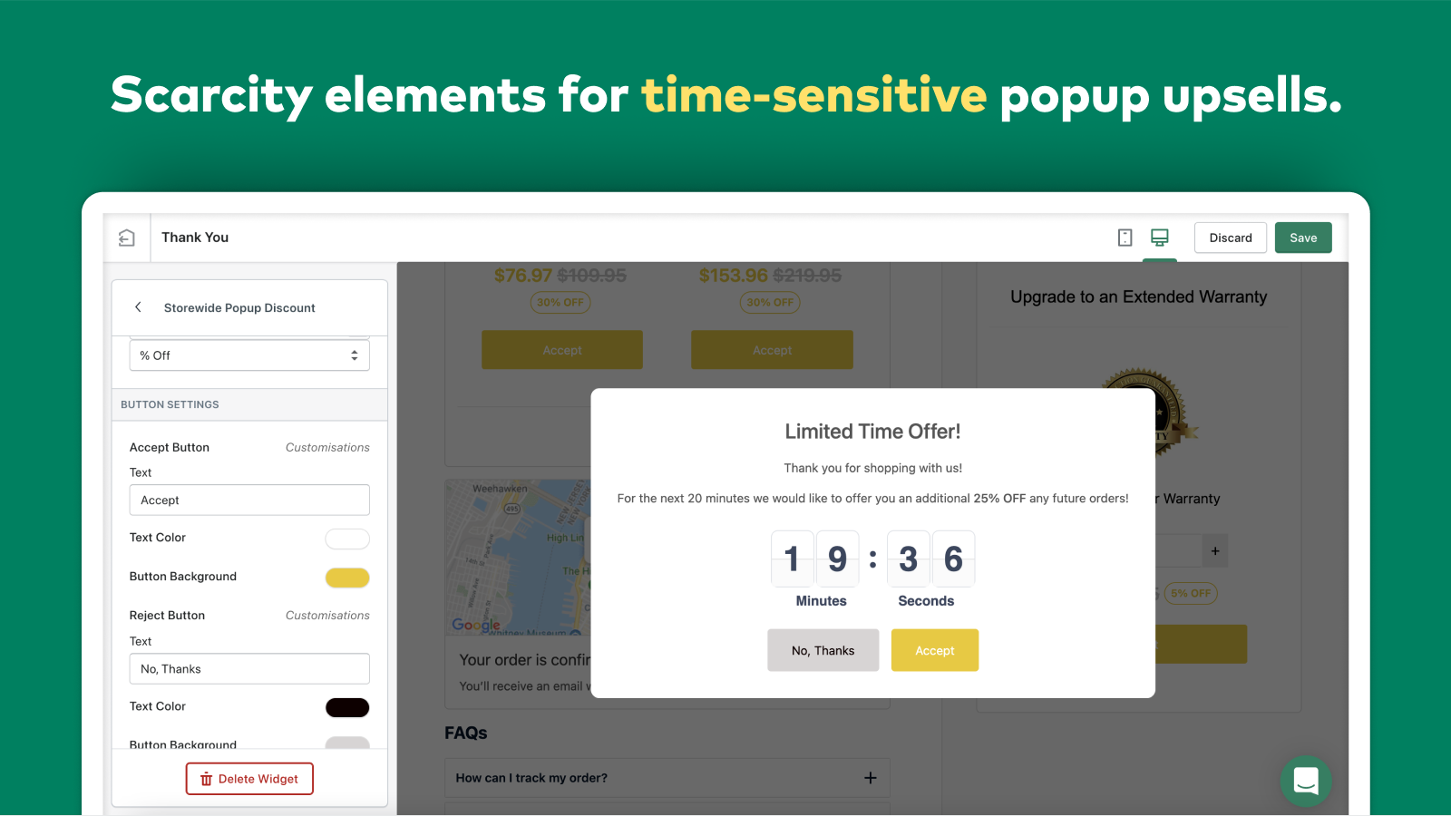 AfterSell Post Purchase Upsell Storewide Popup Discount