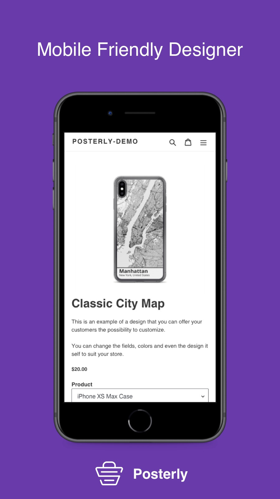 Mobile poster editor