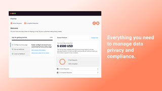 Manage data privacy, privacy page, cookie bar and more