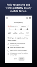 Mobile-friendly privacy policy page