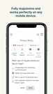 Mobile-friendly eCommerce privacy policy page
