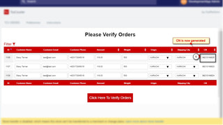 CN generated after orders are verified and pushed to portal.