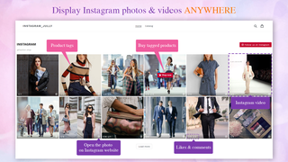 Display Instagram photos & videos anywhere