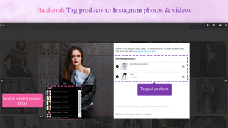 Backend: Tag products to Instagram photos & videos