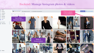 Backend: Manage Instagram photos & videos