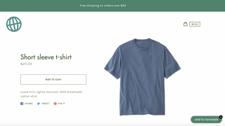 saveable button on product page, customized to match store theme