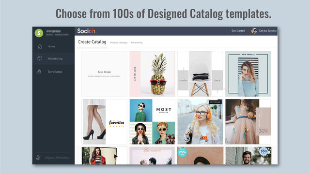 100s of ad catalog templates to choose from