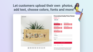 Customers can upload photos, add text and more