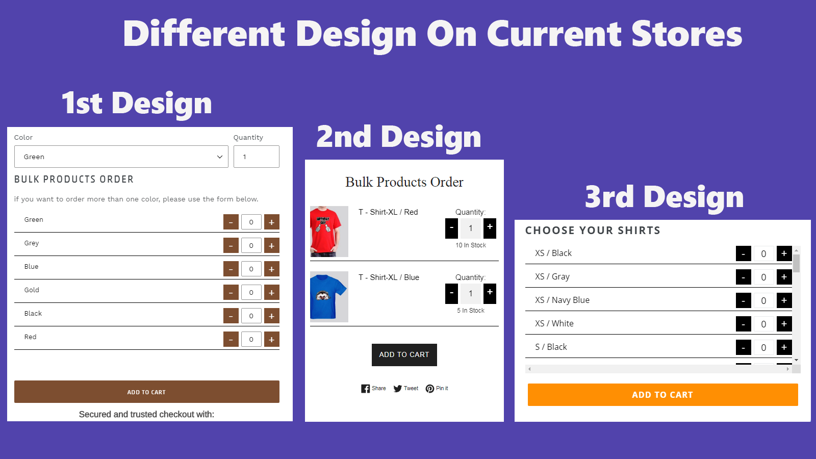 Different design on current store
