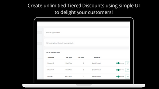 Unlimited Quantity Discounts with Tiered Pricing