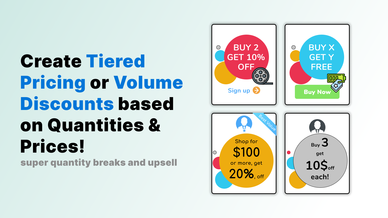 Create Tiered Pricing or Volume Discounts based on prices!