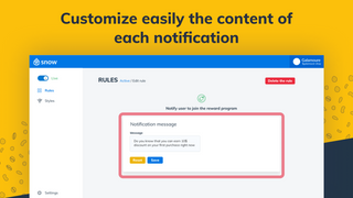 Customize easily the content of each message