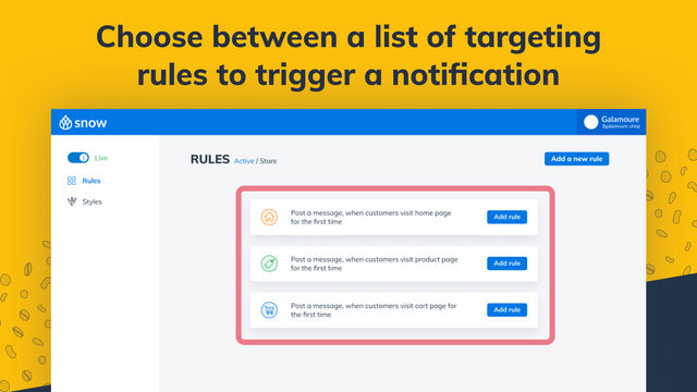 Select how notifications are trigged