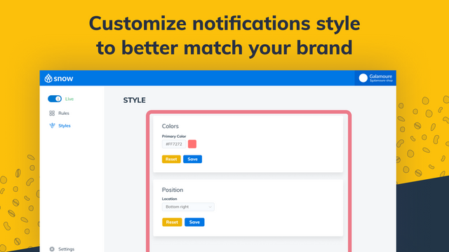 Customize notifications with your brand style