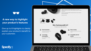 Specify display your product's features with pictograms