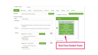 ecommerce chatbot with real-time tester