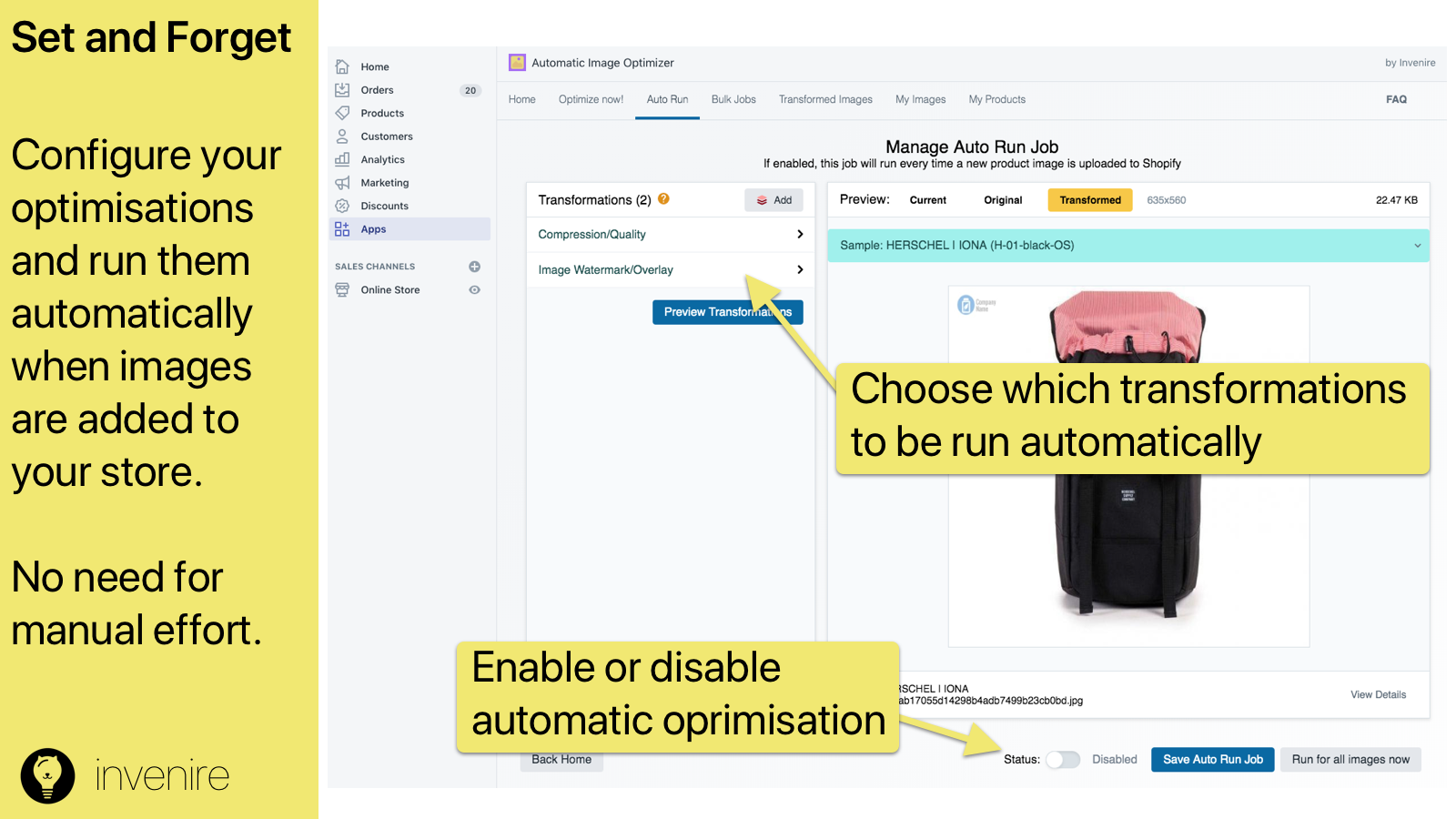 Run your optimisations Automatically!