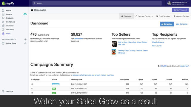 Watch your Sales Grow as a result