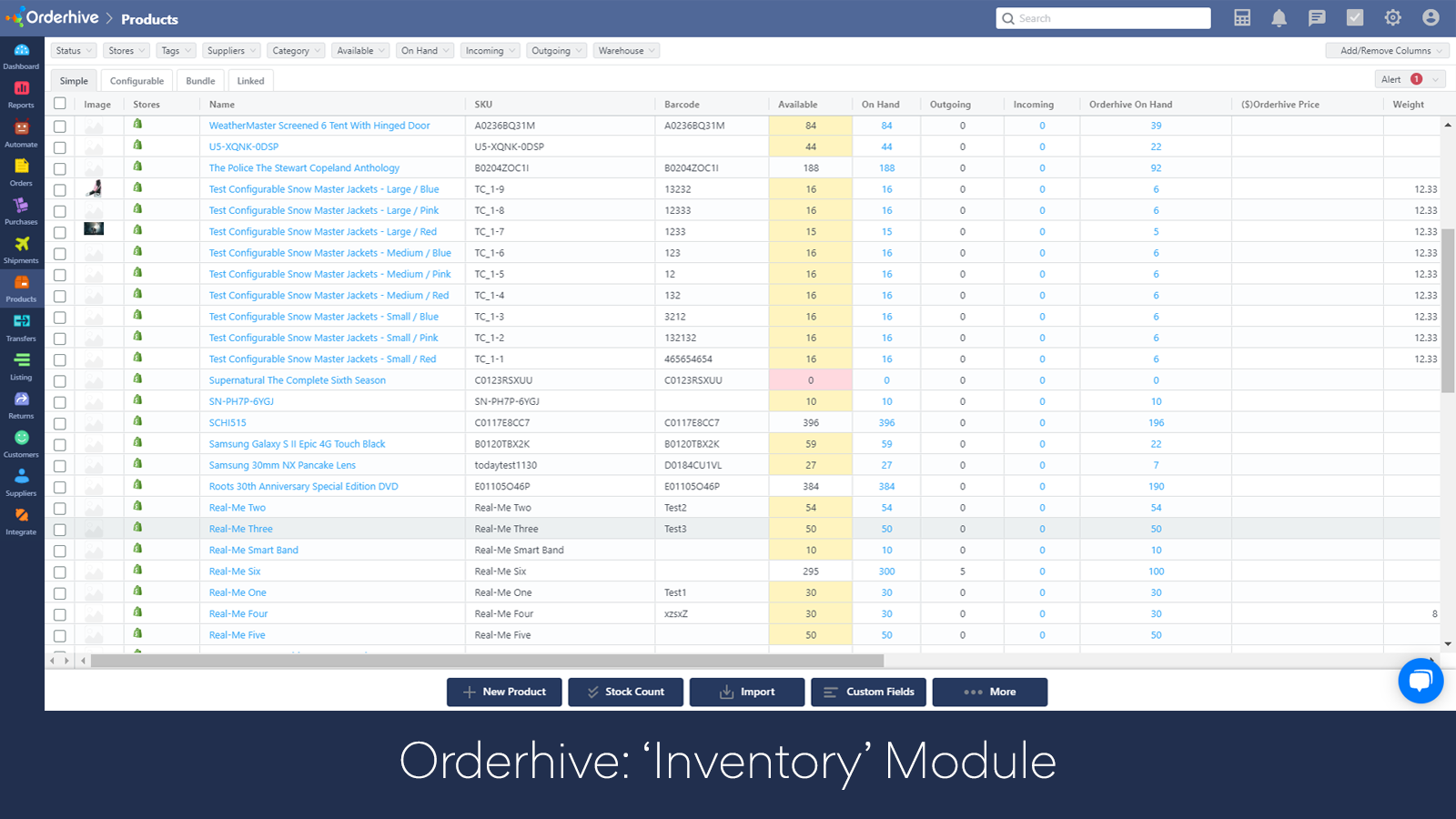 Inventory List Page