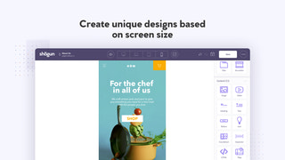 Mobile responsive landing page builder for cross screen design.