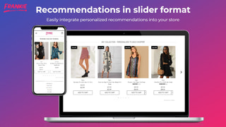 Increase conversion with slider personalized recommendations