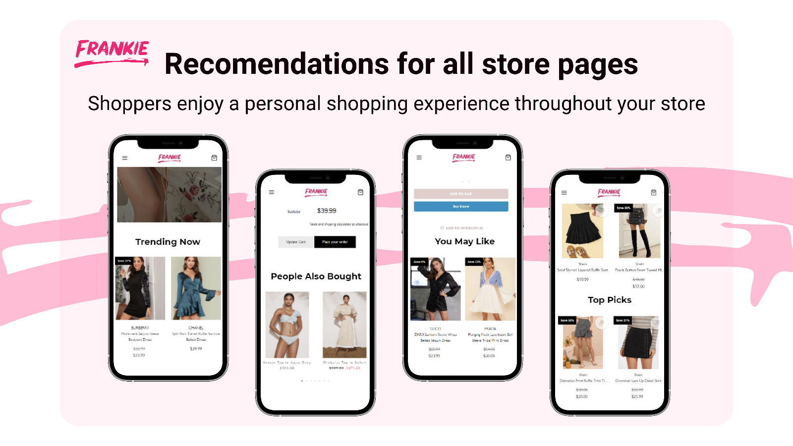 Amazon like Personalized Recommendations on every store page