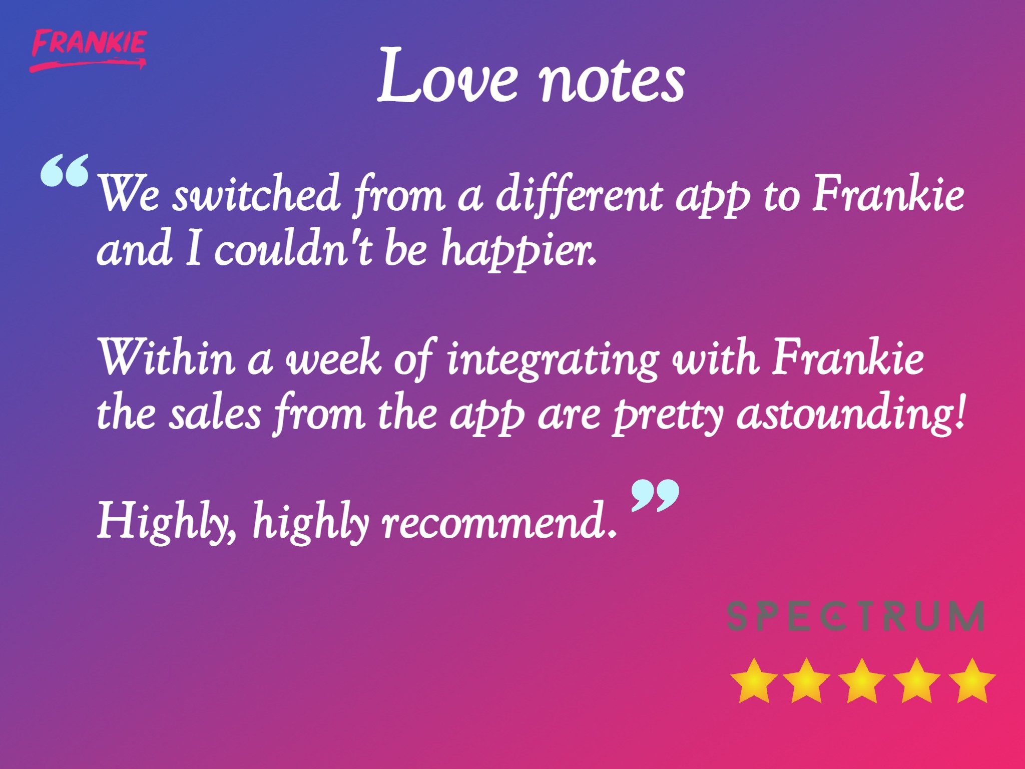 Frankie Recommendations by Spectrum Collections