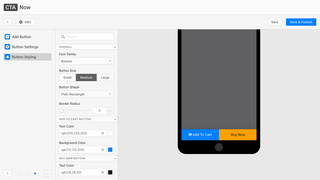 Button Styling - configure the button color and styling
