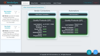 Monitor vendor connections and automations from the dashboard!