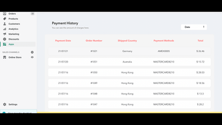 You can see all your payment history to keep track.
