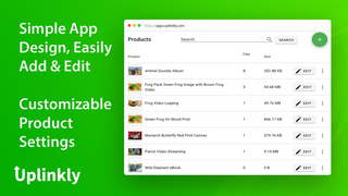 Easy to use Dashboard Add and Edit or customise