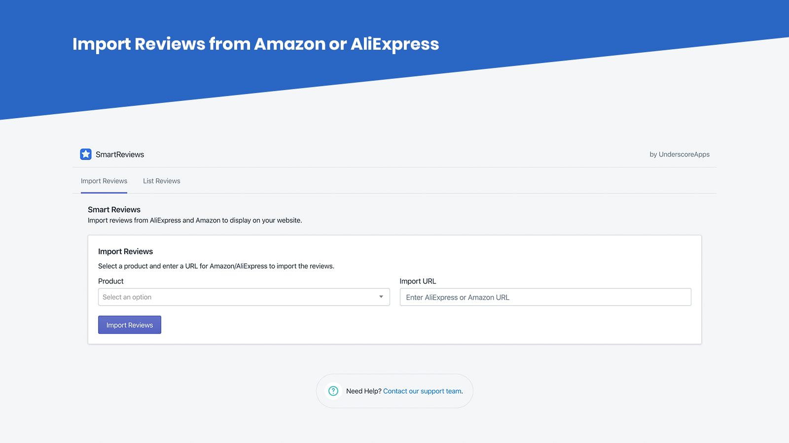 Import reviews from AliExpress and Amazon easily!