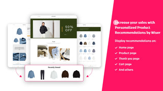personalized recommendations app Shopify wiser dashboard