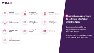 Smart product recommendation widgets by Wiser
