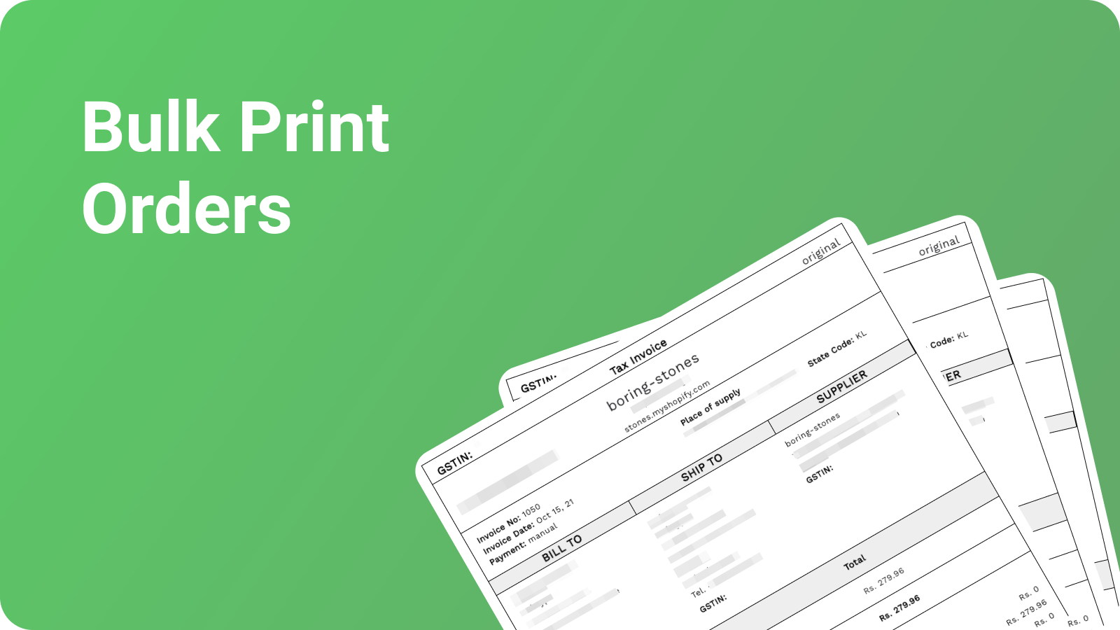 Generated GST Compliant PDF Invoices as per tax laws in India