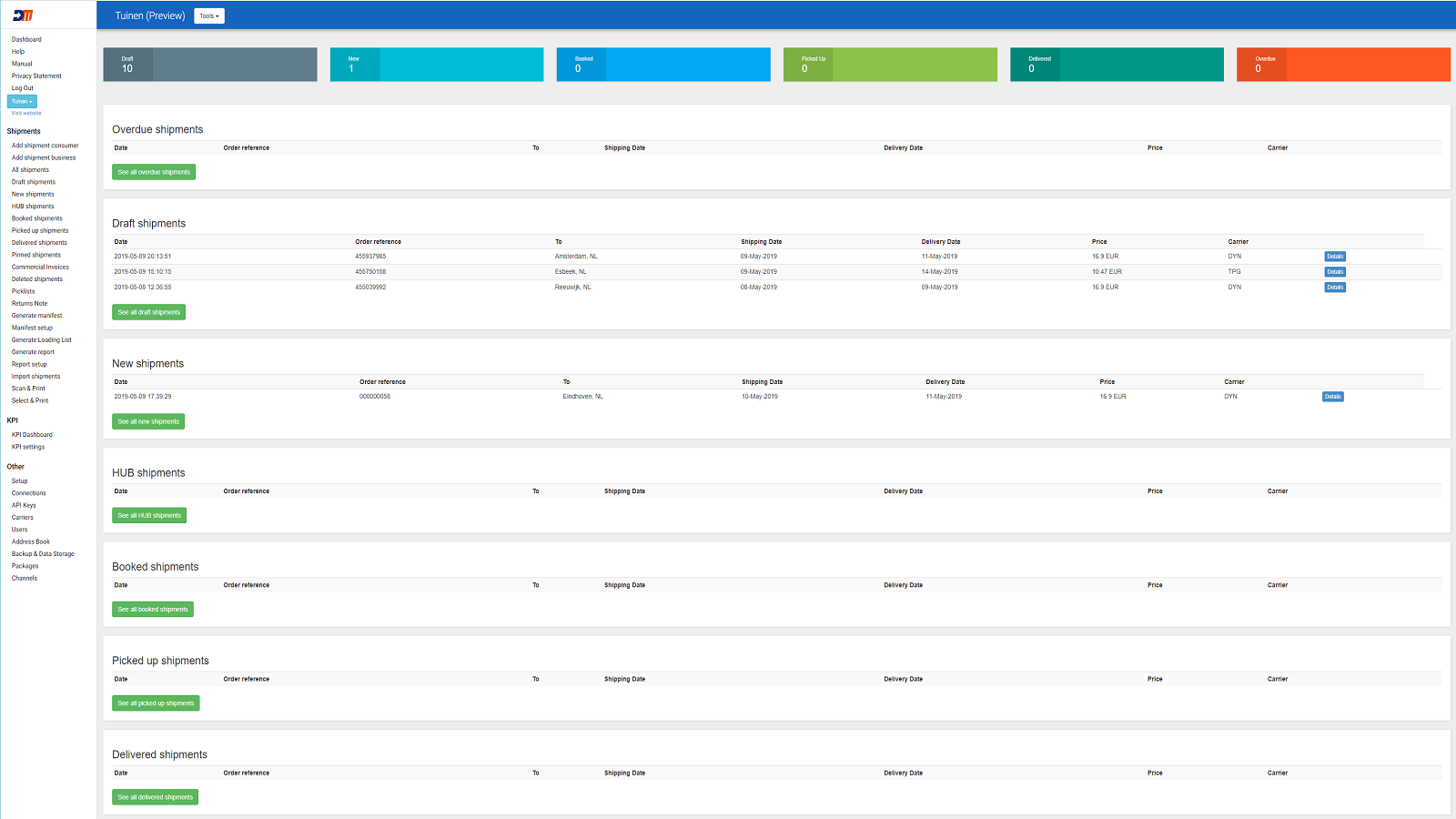 preview backend DeliveryMatch