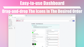 Rearranging example of the icons, using drag and drop
