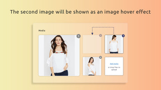 set the second image for back-image effect
