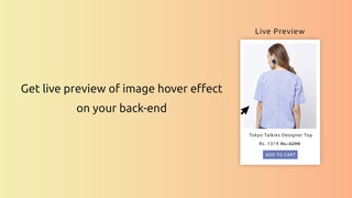 Live preview in backend