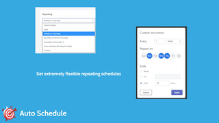 Extremely flexible repeating schedules