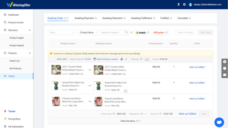 Place orders to Aliexpress seamlessly